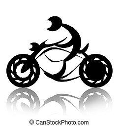 摩托車手, 上, 自行車