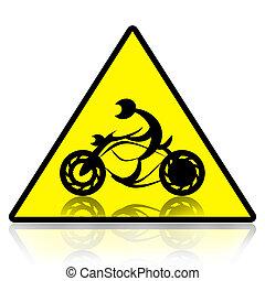 摩托車, 騎手, 簽署