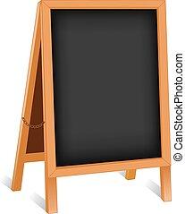 摺疊, 板, 畫架, 粉筆, 簽署