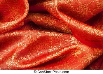 摺疊, 織品, 由于, 裝飾品