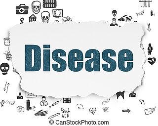 撕破, 疾病, 紙, 背景, 健康護理,  concept: