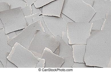 撕裂纸, 背景