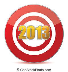 擊中, 目標, -, 新年, 2013
