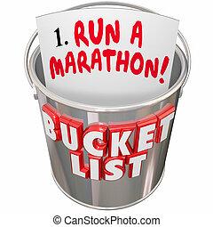 操業, ゴール, リスト, バケツ, 代表団, 目的を達しなさい, 大きい, 夢, マラソン