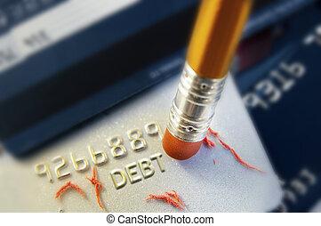 擦掉, 債務