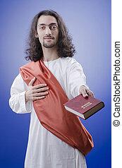 擬人化, の, イエス・キリスト