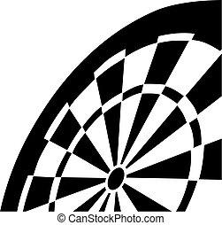 擲鏢的圓靶