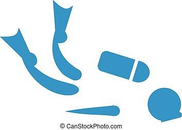 攜水肺潛水, pictogram