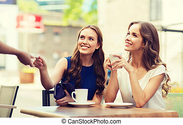 支付, 咖啡, 信用, 咖啡馆, 卡片, 妇女