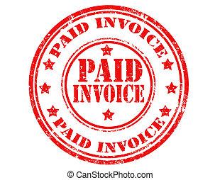 支付, invoice-stamp