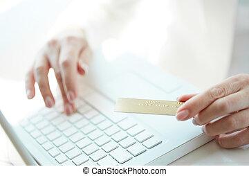 支払い, オンラインで