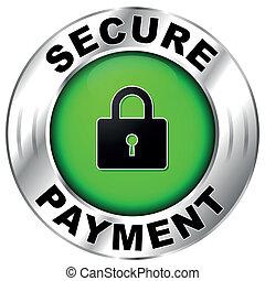 支払い, 安全である, ラベル