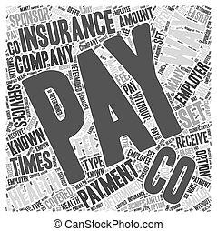 支払う, 概念, 単語, 方法, 健康保険, 雲