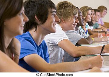 支払う, 生徒, 取得, 注意, クラス, focus), (selective, メモ