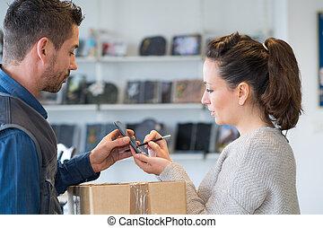 支払う, 顧客, カード, クレジット