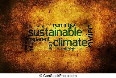 支持できる, 気候, 概念, グランジ