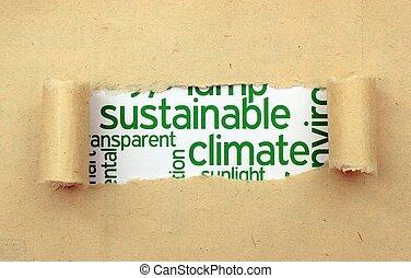 支持できる, 気候, 概念
