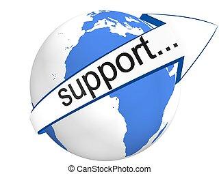 支持, 全球