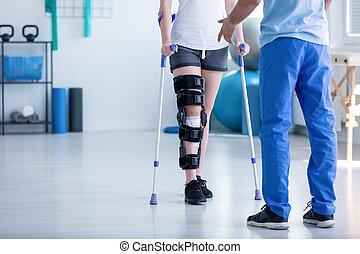 支持, 患者, 物理療法家, 整形外科, 専門家, 問題