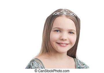 支柱, わずかしか, 微笑の女の子, 歯