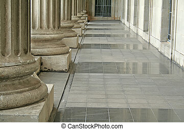 支柱, 在外面, 法律法院, 秩序