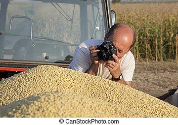 收穫, 拍攝