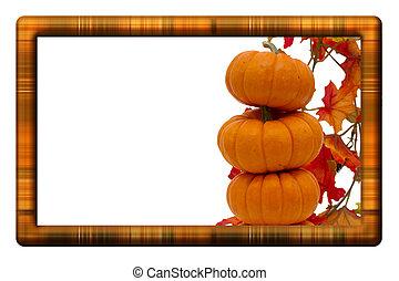 收穫, 邊框, 秋天