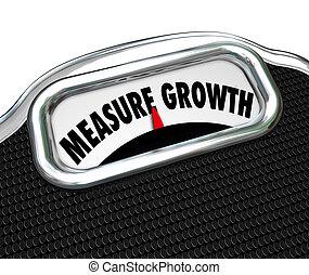 改良しなさい, 成長, 増加, 測定, 言葉, レベル, スケール, より高く