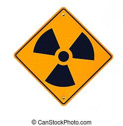 放射性, 道 印, 隔離された, 白
