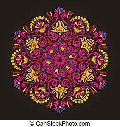 放射状, パターン, 幾何学的