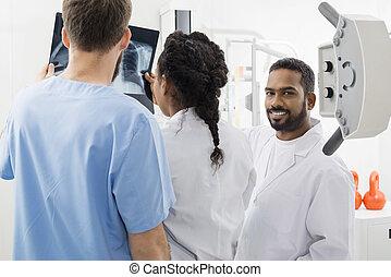 放射線技術者, 同僚, 分析, 病院, x 線