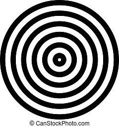 放射, 単純である, 同心である, 隔離された, グラフィックス, 円, 白