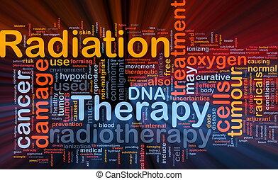 放射, 白熱, 概念, 療法, 背景