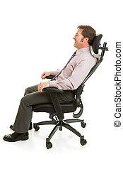 放松, 在, 人體工程的椅子