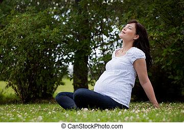 放松, 母親, 在公園