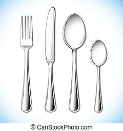 放置, 刀叉餐具