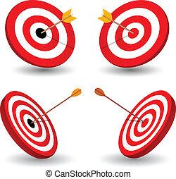 放置, 在中, 目标, 符号, 在中, 取得胜利, eps10.
