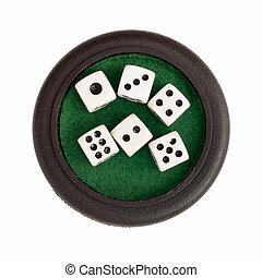 放置, 在中, 骰子