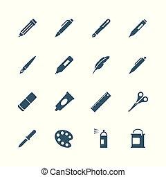 放置, 工具, 图, 图标, 作品