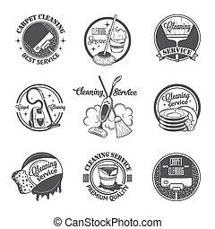 放置, 理性, 葡萄收获期, 标签, 打扫, 服务, 徽章