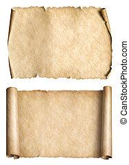 放置, 老, parchments, 描述, 纸, 3d