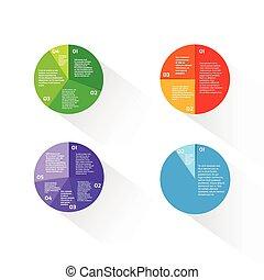 放置, 金融, 财政, 图表, 馅饼, 图形, infographic, 环绕