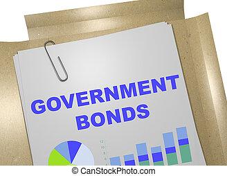政府, 債券, -, ビジネス 概念