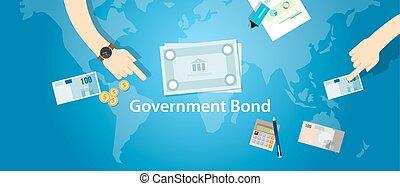 政府, 債券, 投資, お金, 財政, 資金