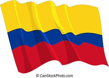 政治的である, 揺れている旗, の, コロンビア