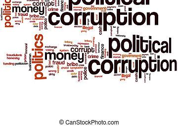 政治的である, 汚職, 雲, 単語