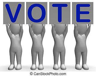 政治的である, 選挙, 選択, 投票, 旗, ∥あるいは∥, ショー