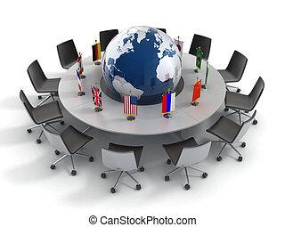 政治, 世界的である, 国, 合併した