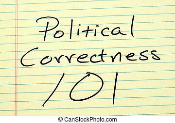 政治, 正确性, 101, 在上, a, 黄色, 法律的衬垫