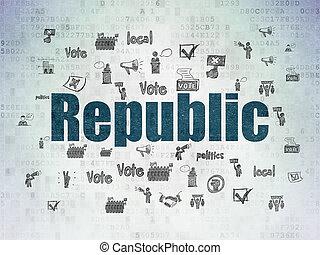 政治, 紙, 共和國, 背景, 數字, 數据,  concept: